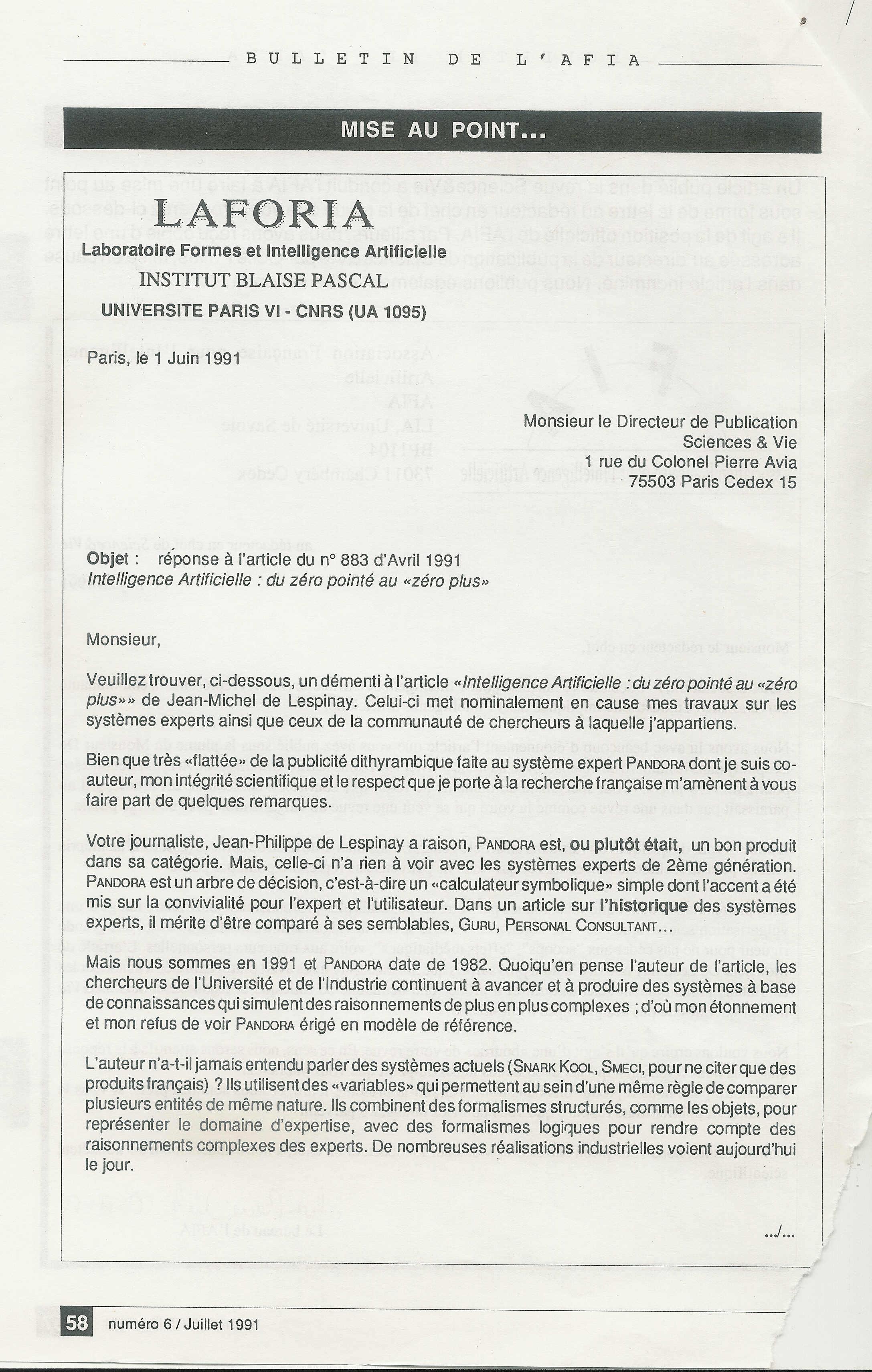 1991  u2013 mon fameux article dans science et vie vantant pandora   les universitaires  afia