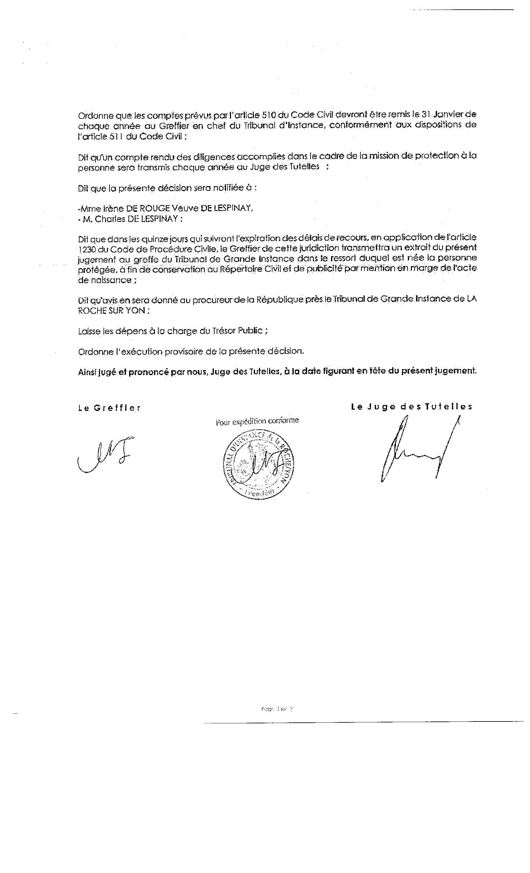 modele de lettre de mise sous tutelle personne agée 2011 – Un juge corrompu, Claude Oesinger, accorde la tutelle de ma  modele de lettre de mise sous tutelle personne agée