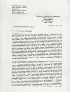 lettre à Sarko1