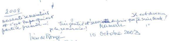 Maman me trouve gentil dans son testament de 2008