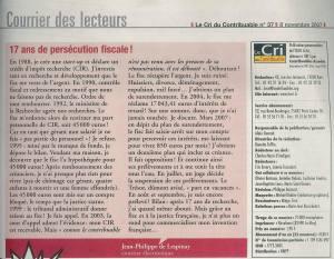 Article JP Cri du Contribuable