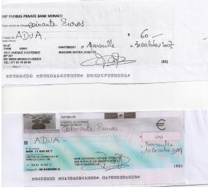 Chèques Mondino
