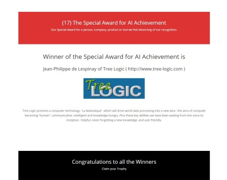 awards.ai 2017 for 'AI achievement'