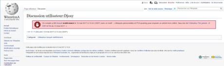 Blocage infini Wikipedia