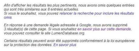 Google caviarde la recherche sur Koerfer