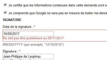 Requête auprès Google cf Koerfer