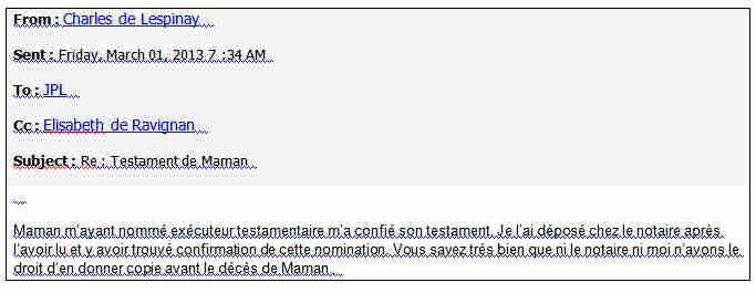Charles refuse de me remettre le testament de Mioup 01.03.2013